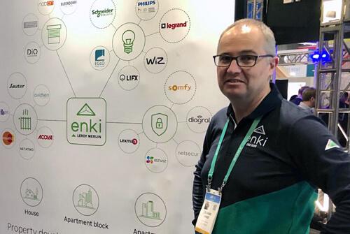 Olivier Lemée au CES 2020 présente la technologie ENKI conçue pour Leroy Merlin France